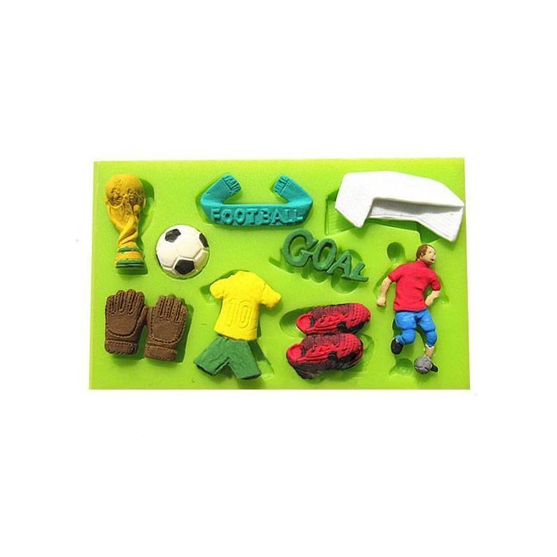 Molde de silicona para fútbol