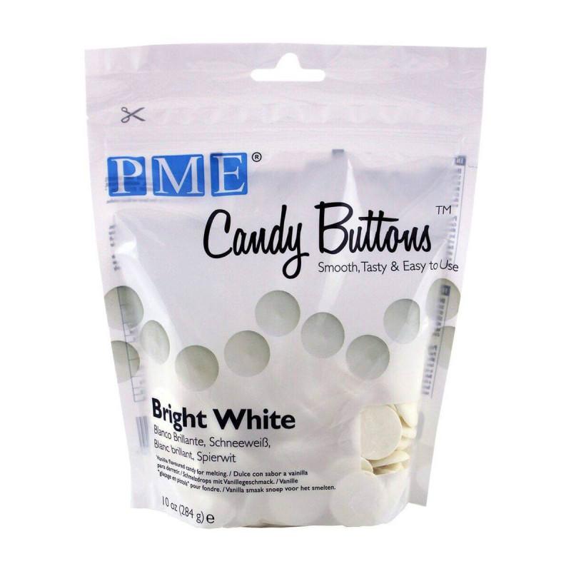 Candy Melt Botones blancos brillantes PME