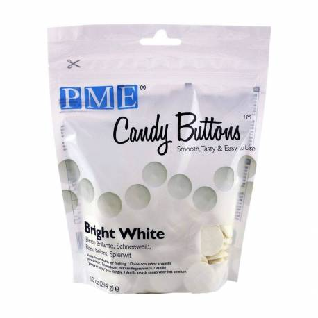 Candy Melt Bright WHITE Buttons PME