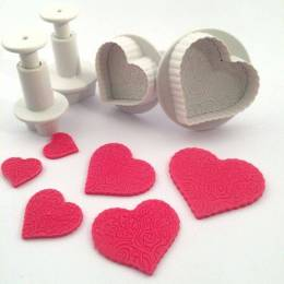 Set of 4 carries parts push heart print