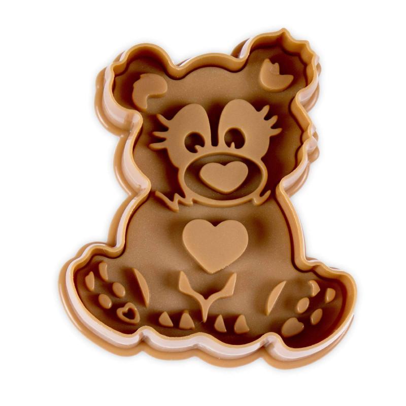 Cortador con expulsor oso 6 cm