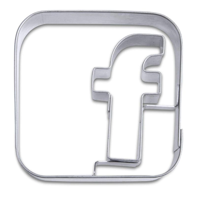 Découpoir Application Facebook 6,5 cm