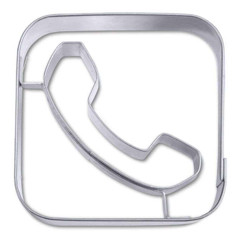Découpoir Application Appel Téléphone 6,5 cm