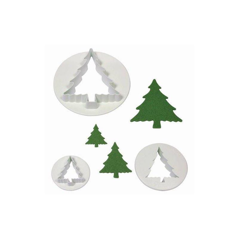 3 cortadores de galletas del árbol de Navidad