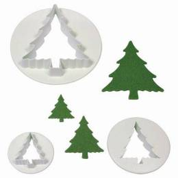 3 Christmas tree cookie cutters