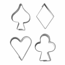4 cutters symbols 3 cm Poker Games cards