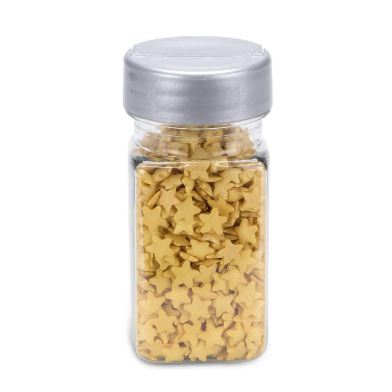 Confettis d'étoiles en sucre OR dorées 40 G