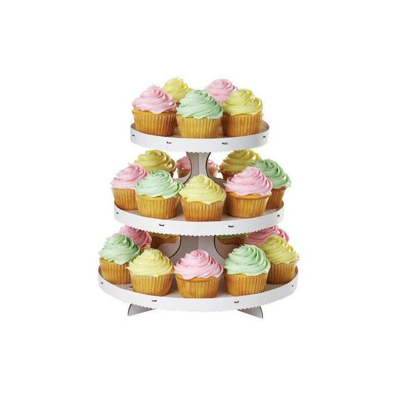 Présentoir à cupcakes Blanc 3 étages Wilton