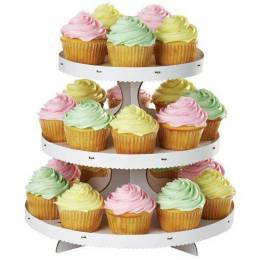 Wilton white cupcake display