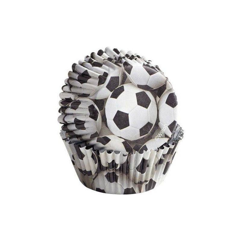 36 Caissettes Football Ballons Wilton