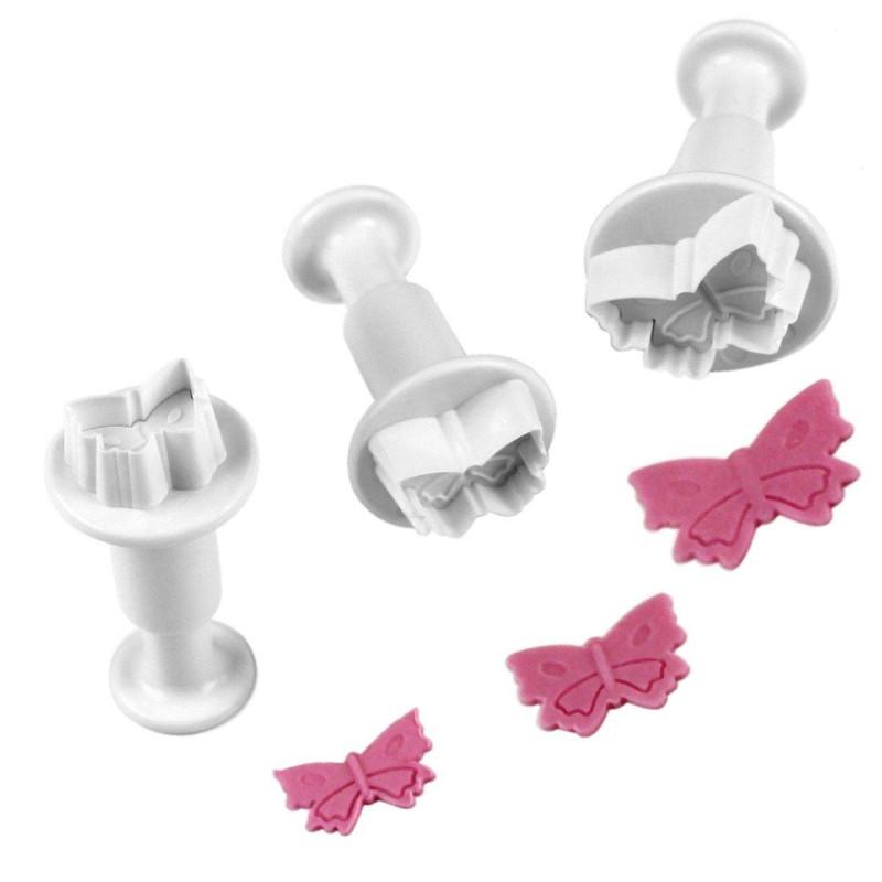 Set de 3 emporte pièces Papillons