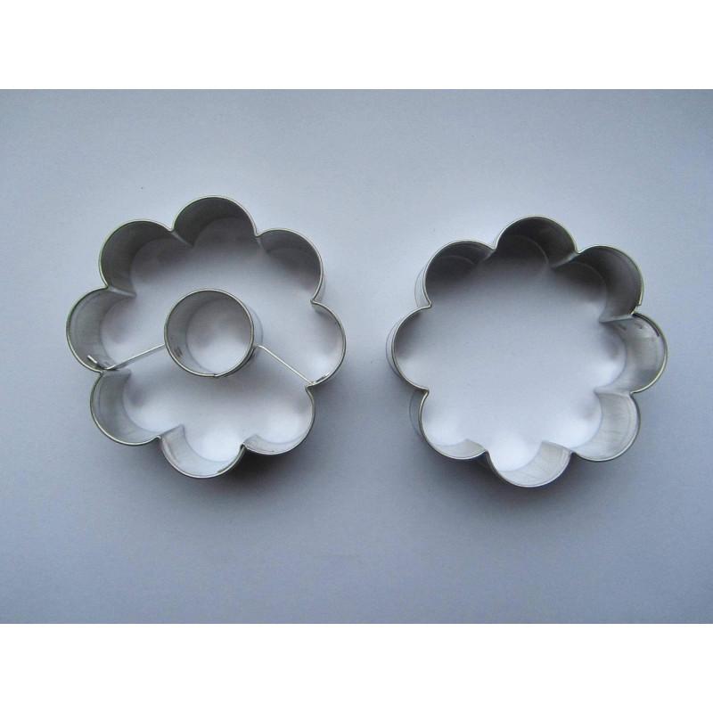 Set de 2 Découpoirs Fleurs pour Biscuits Confiture