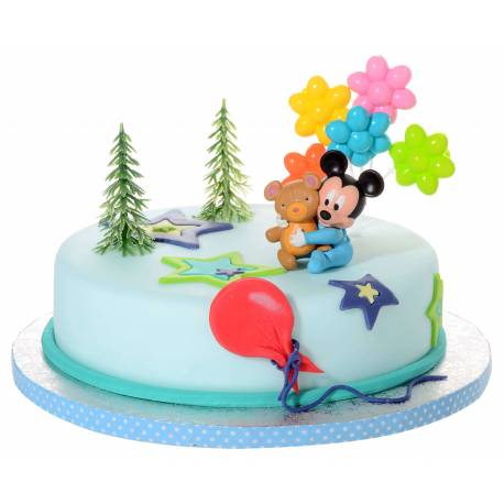 Kit d coration g teau baby mickey cake design et patisserie - Decoration gateau anniversaire mickey ...