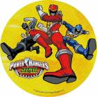 Disc in Unleavened Power Rangers characters 3 yellow background