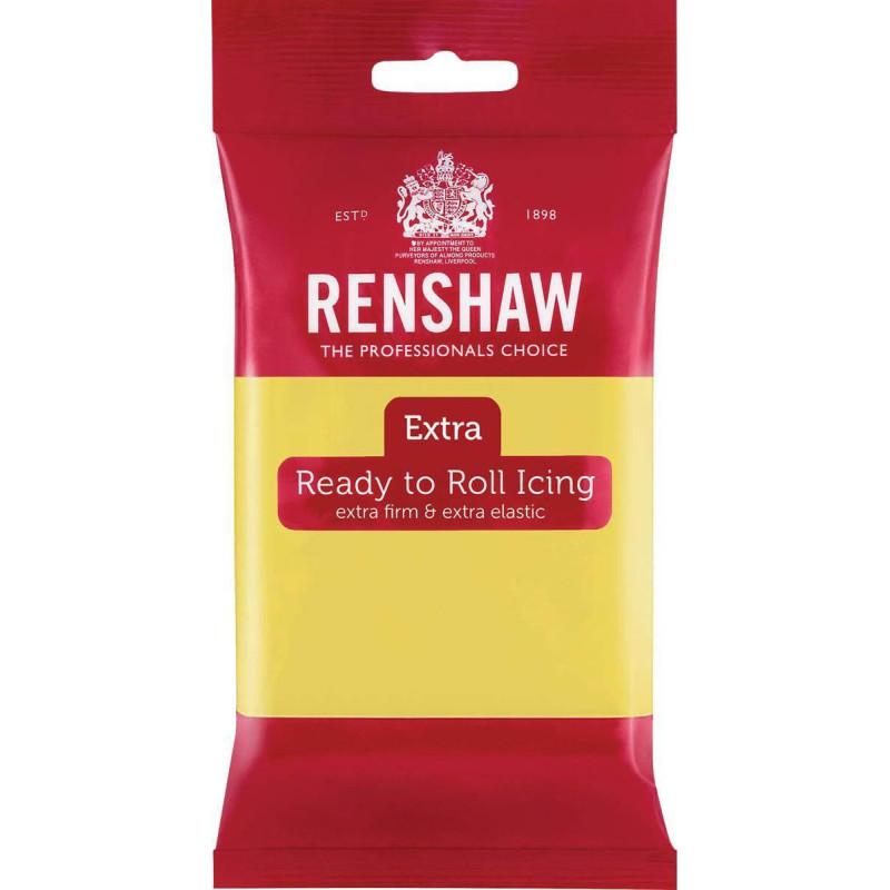 Pâte à Sucre Renshaw EXTRA JAUNE PASTEL 250g