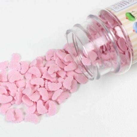 Mini Pieds en sucre de bébé ROSE 55G