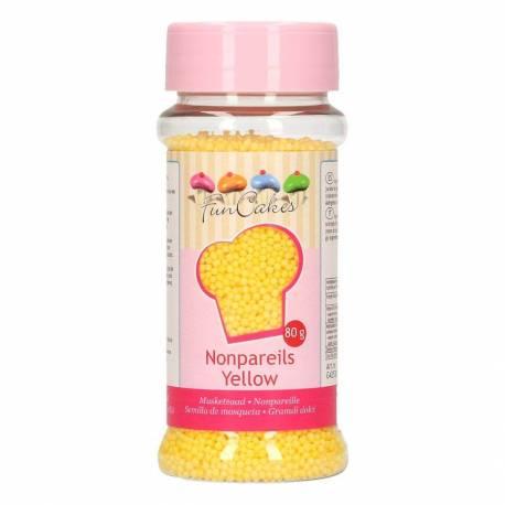 Micro SugarPearls YELLOW Fun Cakes 80 G