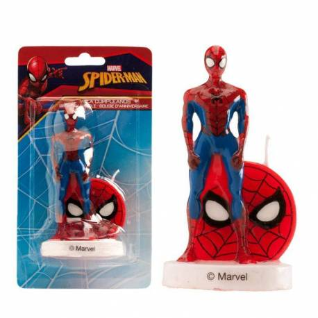3D Spiderman candle standing 9 cm