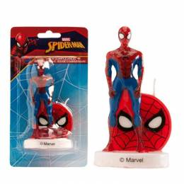 Candle 3D Spiderman standing 9 cm