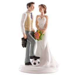 Wedding Couple subject and football 18 cm