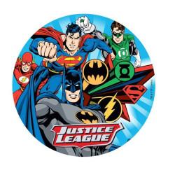 Disque en azyme Justice League 4 personnages 20 cm