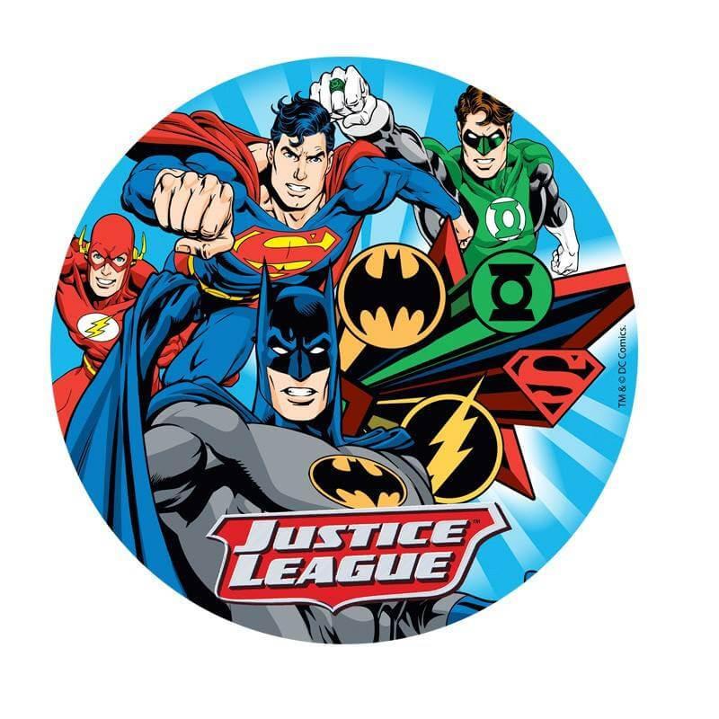 Disque En Azyme Justice League 4 Personnages 20 Cm Cake Design