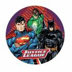 Disco desatado Liga de la Justicia 3 personajes 20 cm