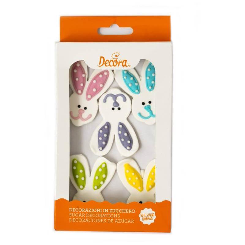 5 Têtes de lapins en sucre