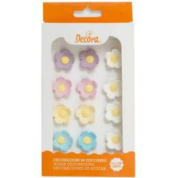 16 flowers average sugar assorted colors