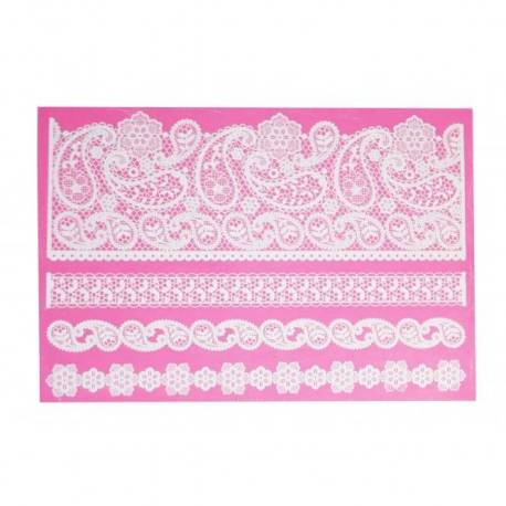 Mat Pretty Paisley for Cake Lace - Clair Bowman