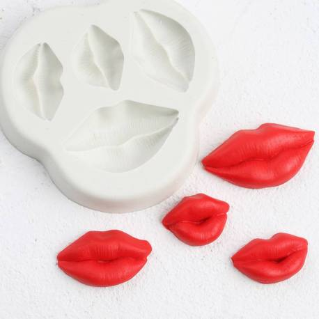 Silicone mold Kiss mouth and lips
