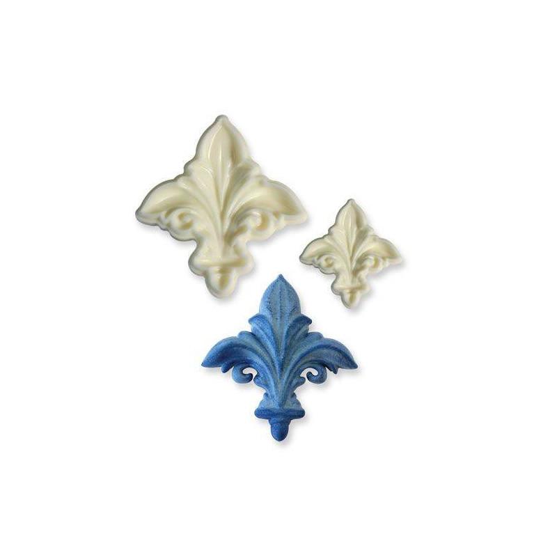 Set de 2 emporte pièces 3D Fleur de Lys