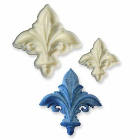 Set of 2 lily flower 3D coin cutters