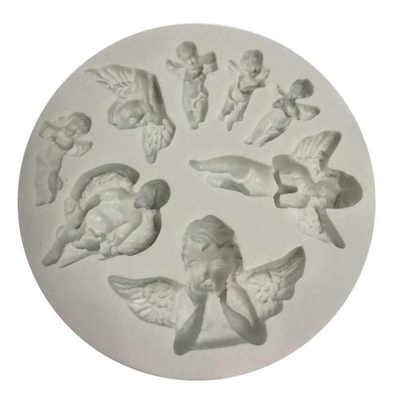 Moule Anges en silicone - 8 modèles