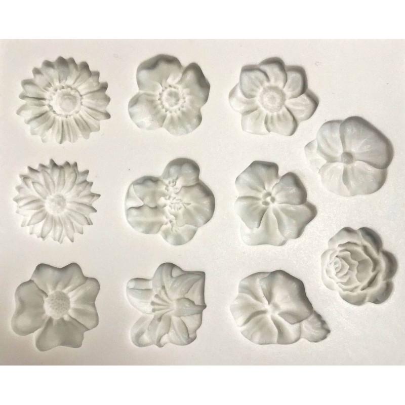 Molde de silicona Flores surtidas