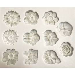 Mould in silicone flowers described