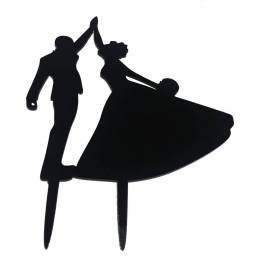 Topper Couple dancing color lacquered black