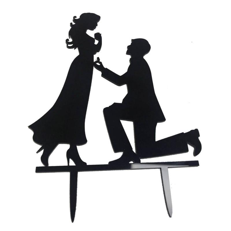 Topper couple demande Noir laqué