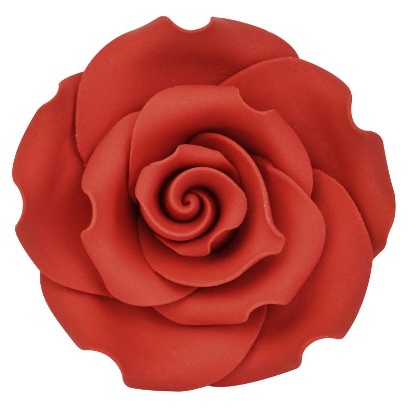Fleur Rose Rouge 5 Cm Cake Design Et Patisserie