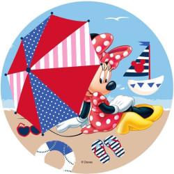 Disque Azyme Minnie à la plage