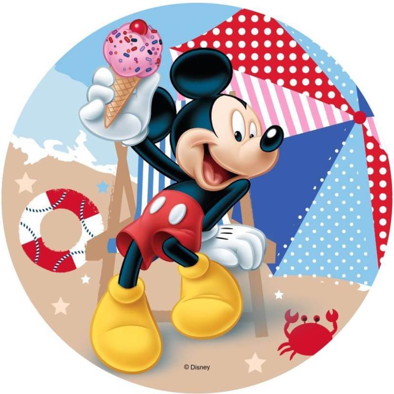 Disque Azyme Mickey à la plage