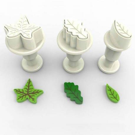 Set of 3 mini LEAF plunger cutters