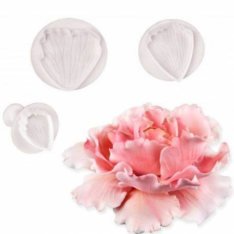 Set of 3 peony plunger cutters with PME footprint