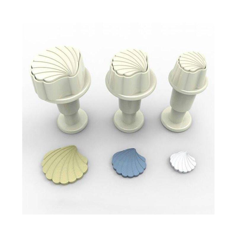 Set de 3 Mini emporte pièces à piston Coquillages