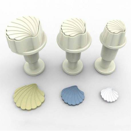 Set of 3 Mini Carrier Shells plunger cutters