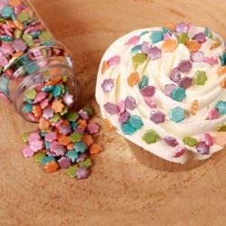 Flores Pequeñas en Tortas de Azúcar Metálicas 70G