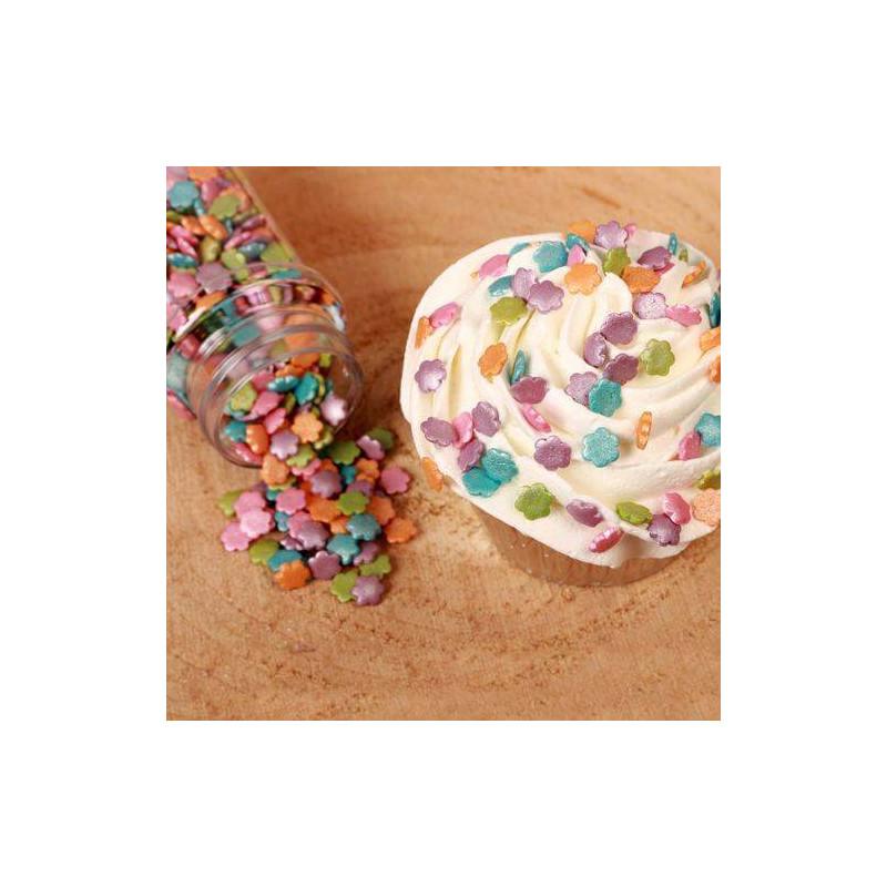 Petites Fleurs en sucre Métalique FunCakes 70G
