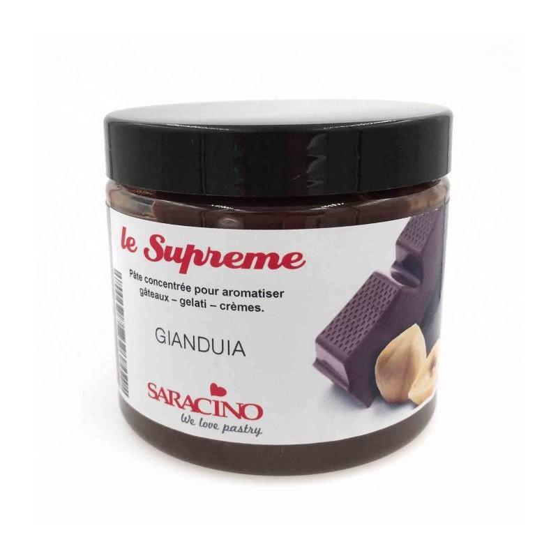 Pâte concentrée Le Suprême Noisette chocolat Saracino 200g