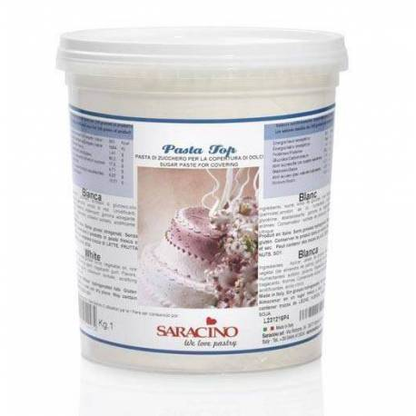 TROPICAL Sugar Paste Pasta Top SARACINO 1KG WHITE