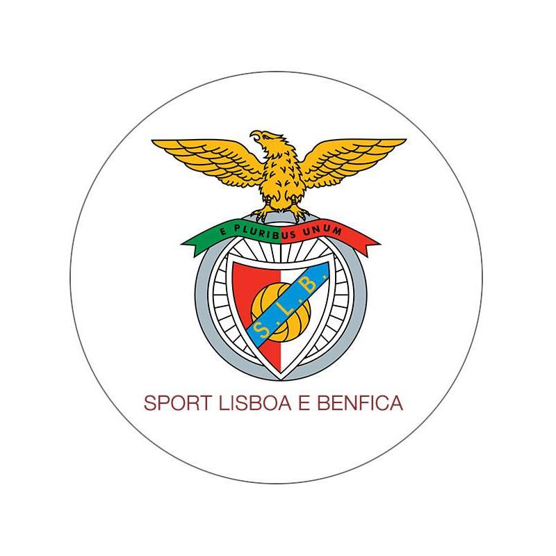 Disco en papel de oblea fútbol Benfica 20cm